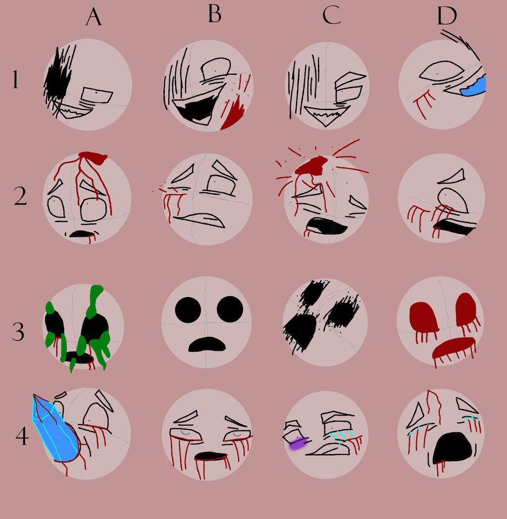 Creepy Expressions Meme Oc by Ghosheart on DeviantArt