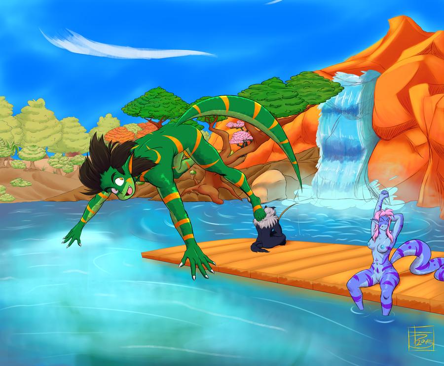Let's Take A Dip! by Rixks
