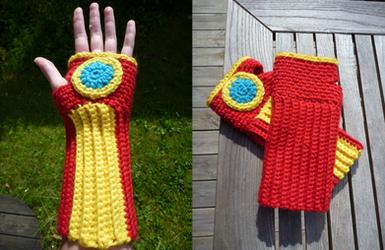 Iron Man handwarmers by Kottdjur