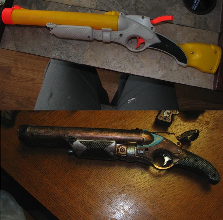 Steampunk nerf gun by CraftyHair