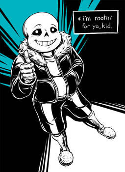 Rootin' for ya, kid