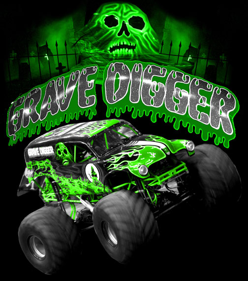 Grave Digger Neon by myseps on DeviantArt