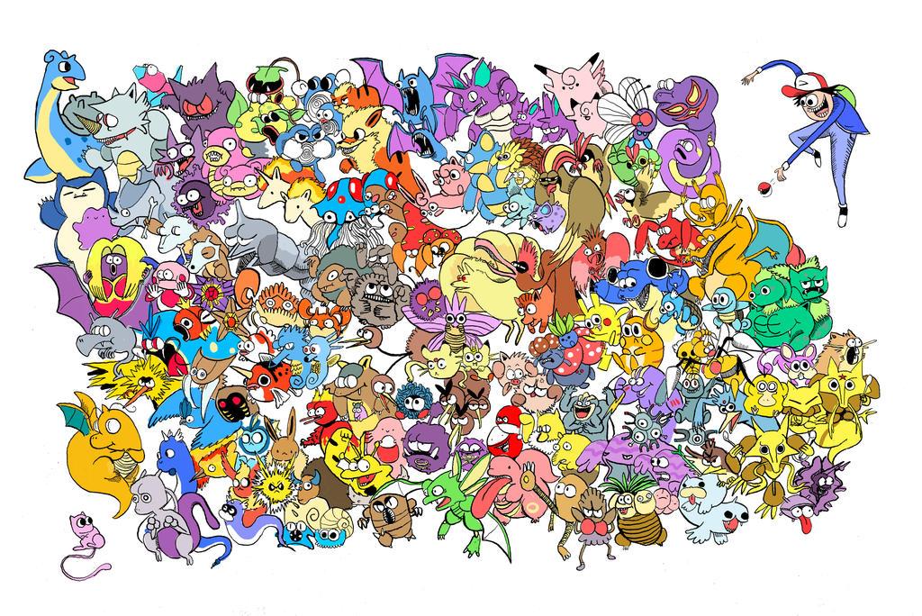 Original 001 - 151 Pokemon by DaltonAllenStark on DeviantArt Original Pokemon Wallpaper