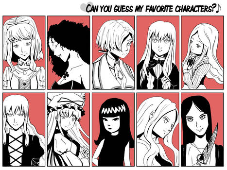 Guess My Favorite Character - Female Version