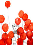Red Balloons by discursivedino