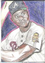 Hank Aaron Sketch Card
