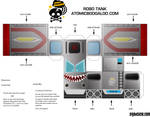 Robot Tank Flat Pack toy 2