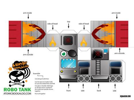 New Robot Tank Paper Model Toy