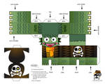 Pirate Seamonster Paper Toy