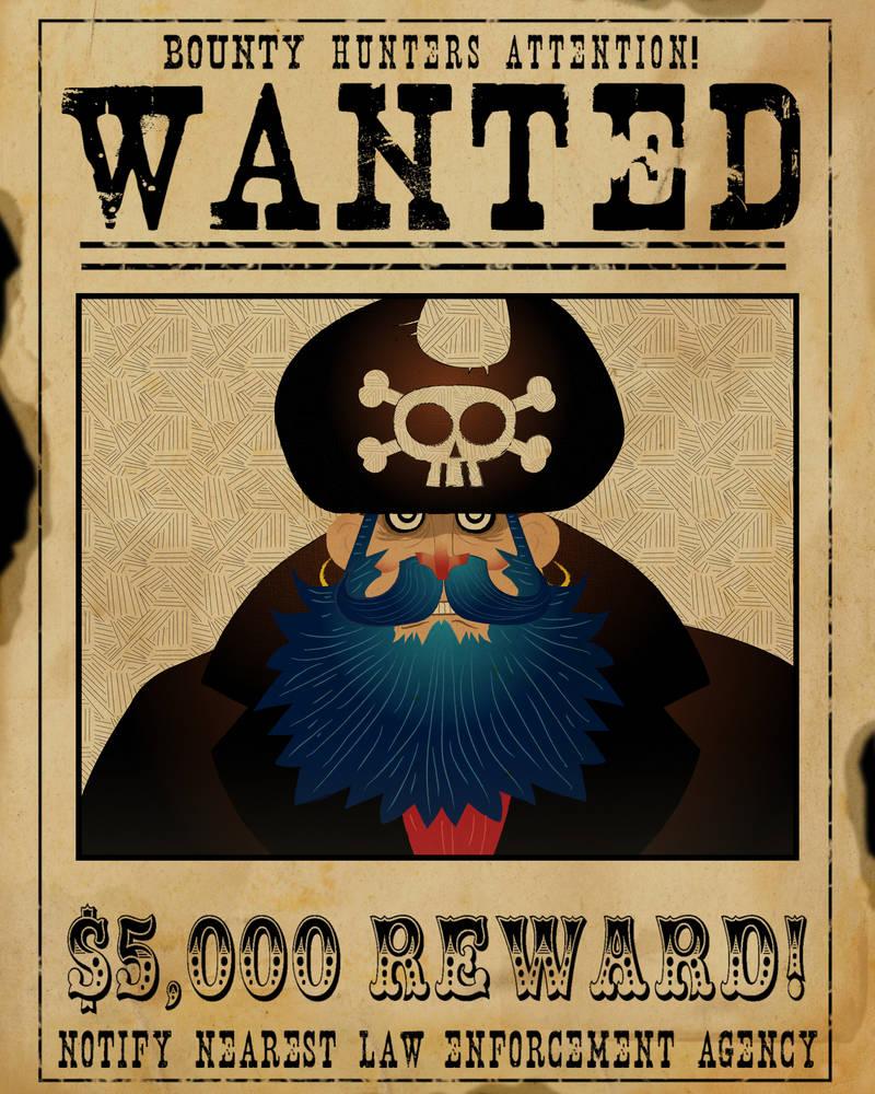 Blue Beard Wanted Poster