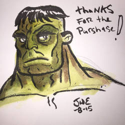 Hulk watercolor sketch by genkimon