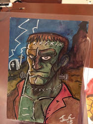Frankenstein sketch by genkimon