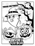 Halloween Ghost Coloring Book Page