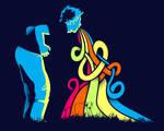 Color sick t-shirt design