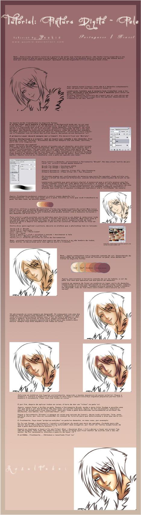Tutorial Pintura Digital: Pele by Yuukie