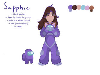Sapphie My Among Us Oc