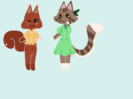 Squirrelpaw and Leafpaw animal crossing