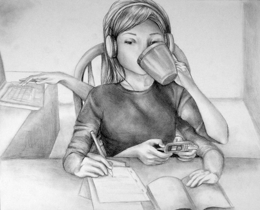 Multitasking by xblkrzx on deviantART