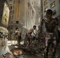 Zombies attack Santiago by Nicoob