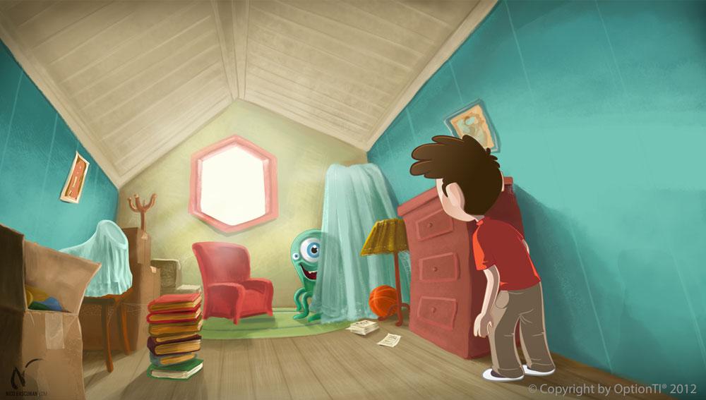Attic Encounter by Nicoob