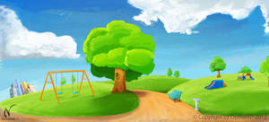 Park Landscape panoramic by Nicoob