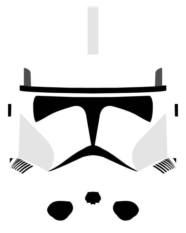 Clone Trooper Helmet Vector Phase II Clone Trooper Helmet