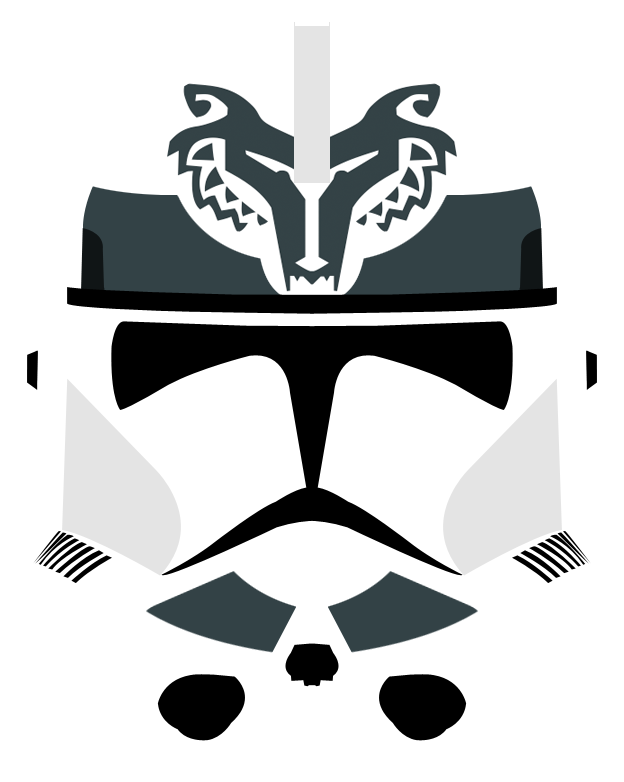 Wolfpack Phase II Clone Helmet By PD Black Dragon On