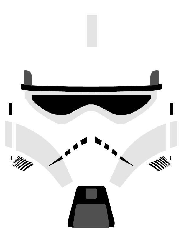 Clone Trooper Helmet Vector Clone Trooper Helmet Variant 3
