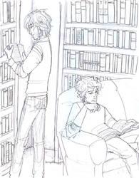 Bonding Over Books by burdge