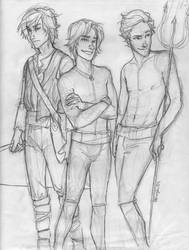 the Men of Hunger Games WIP by burdge