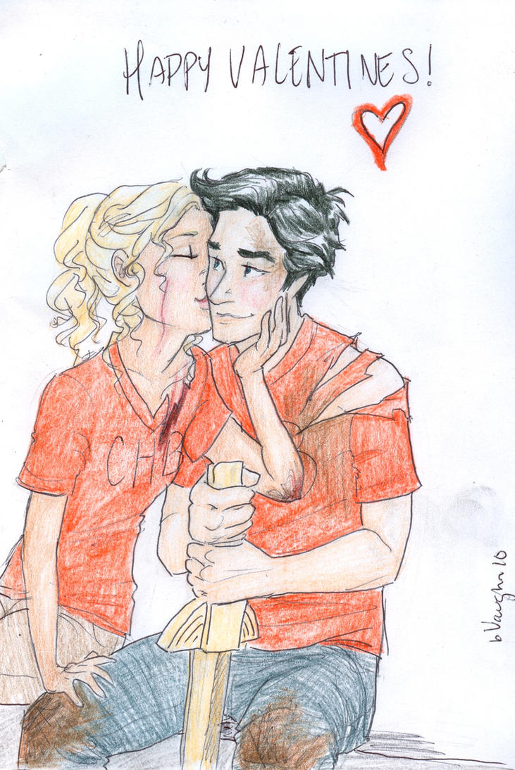 Vday with Percy and Annabeth by burdge
