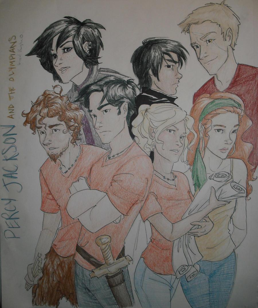 Percy Jackson n the Olympians by burdge