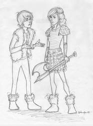 hiccup and astrid by burdge
