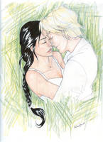 Katniss and Peeta by burdge