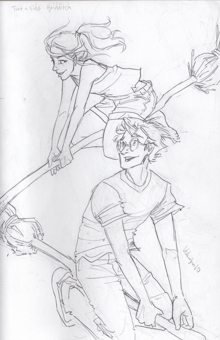 Two a side quidditch by burdge on deviantart for Quidditch coloring pages