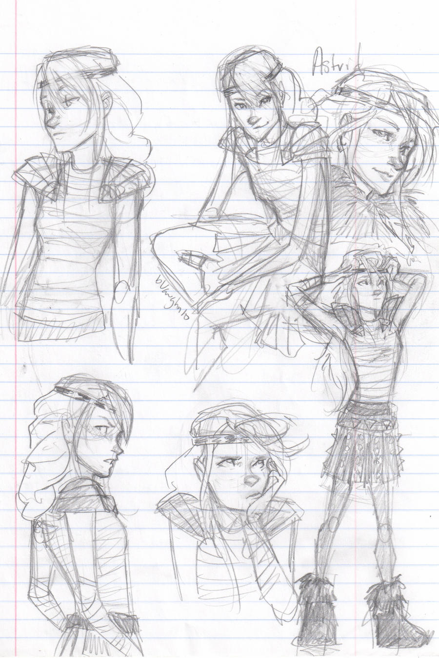 Astrid sketchies by burdge on DeviantArt