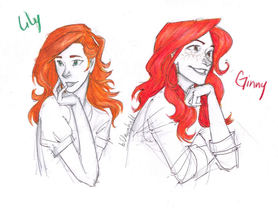Lily and Ginny by burdge