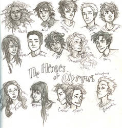 the Heroes of Olympus by burdge