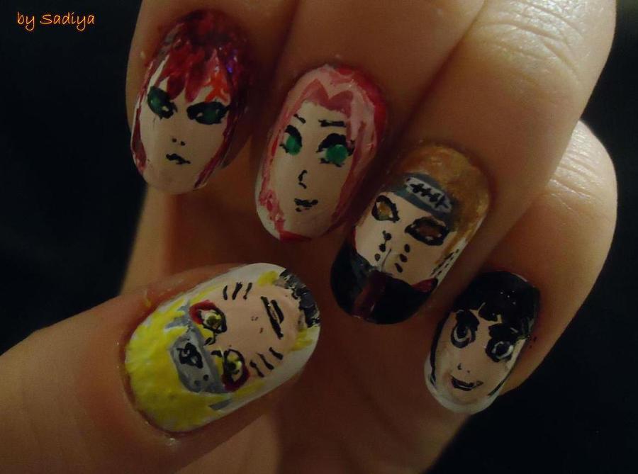 naruto , nail art by SAYANEcw on DeviantArt