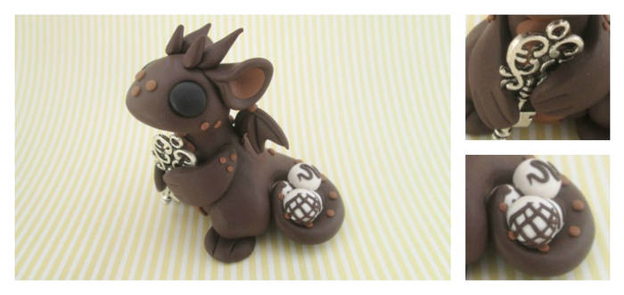 Chocolate Key Keeper Dragon