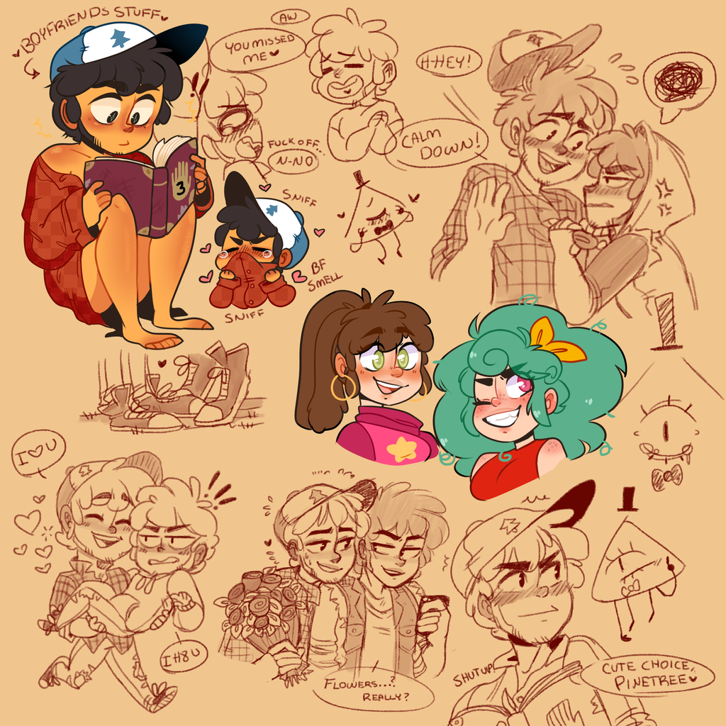 DipperXMax Doodle page by SC00TY on DeviantArt