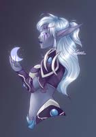 Night elf Paladin Cinnri by NekrokatArt