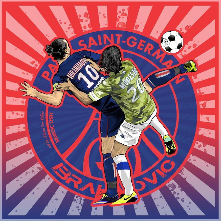 Zlatan Ibrahimovic Wallpaper Vector PSG By Compeng