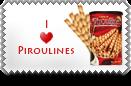 I Love Piroulines Stamp