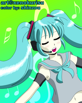 Miku Coloring Contest Entry
