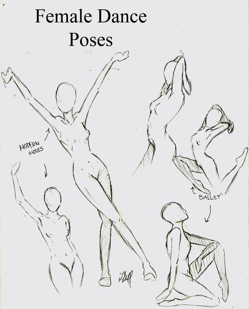 Female Dance Poses by momohana2 on DeviantArt