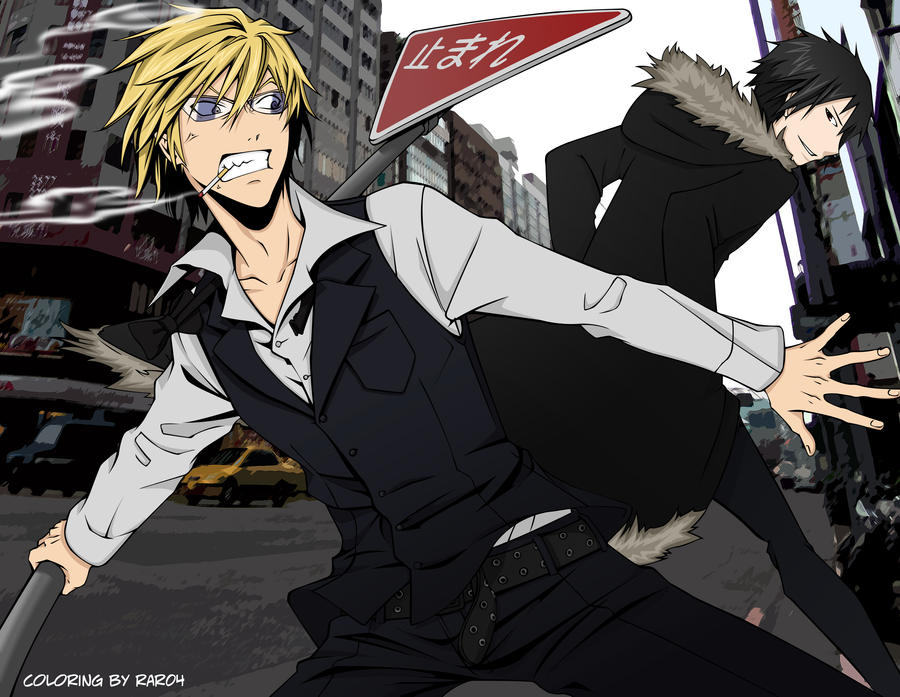 Durarara! Shizuo and Izaya by rar04 on DeviantArt