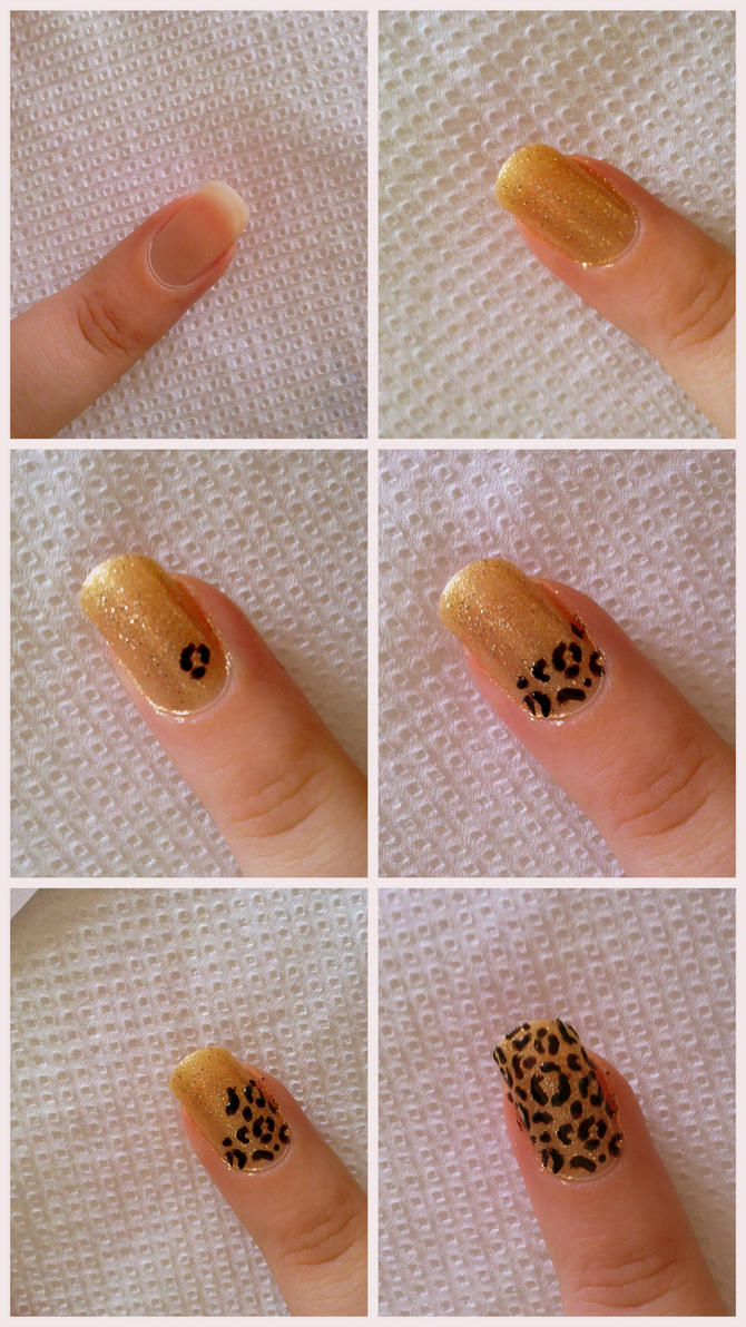 Tutorial Leopard Nails By Kikybee On Deviantart