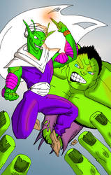 Hulk v Piccolo by Peter-Sefcik