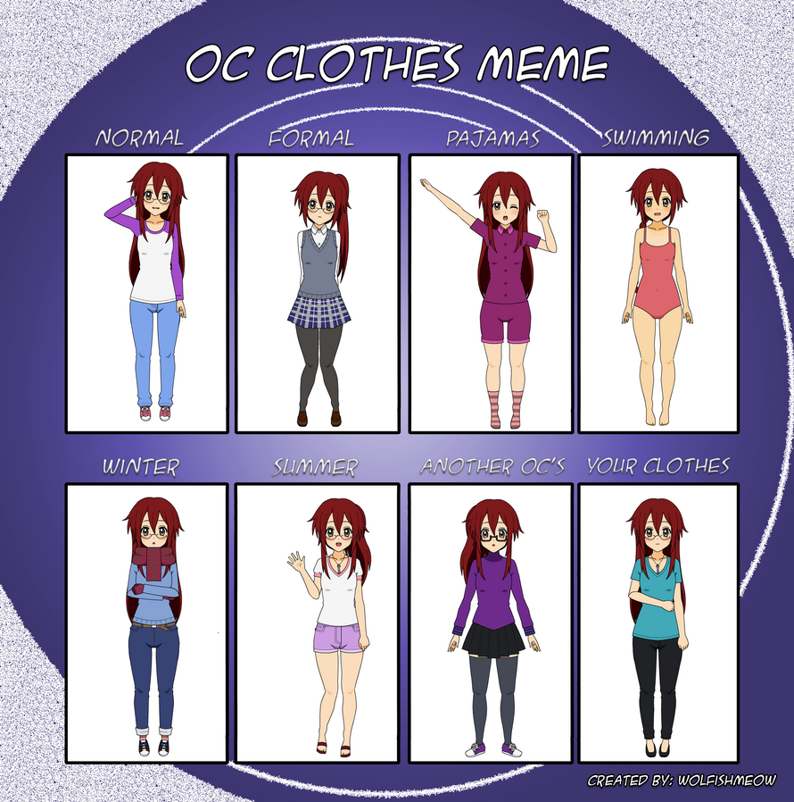 Oc Clothes Meme: Anna by SheLooksToTheSky